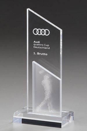 Golfpokal aus Acrylglas mit Gravur Aroa