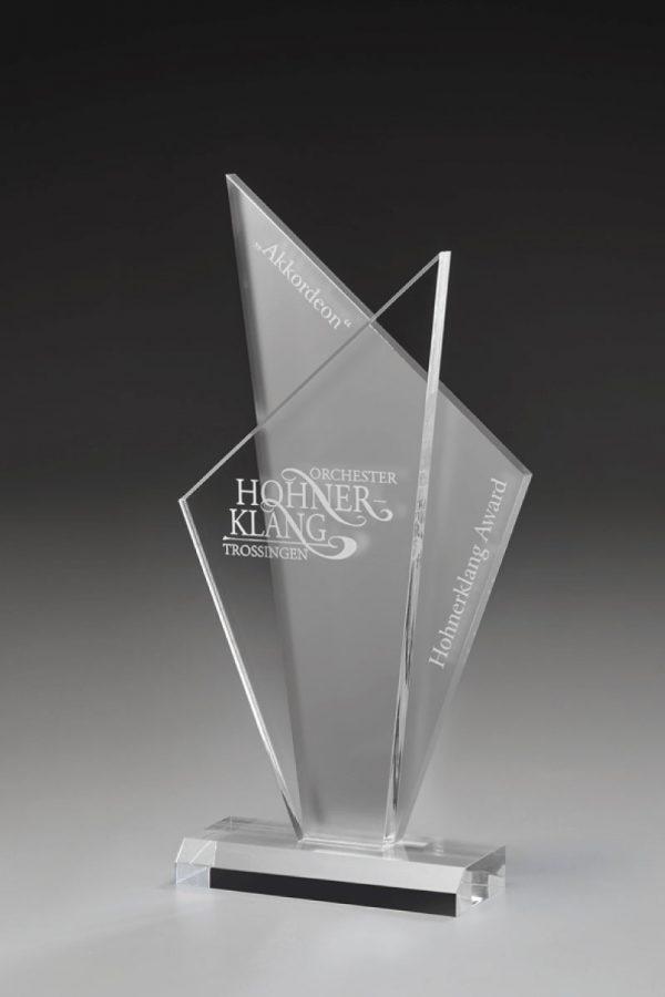 Golfpokal aus Acrylglas mit Gravur Atlas Award