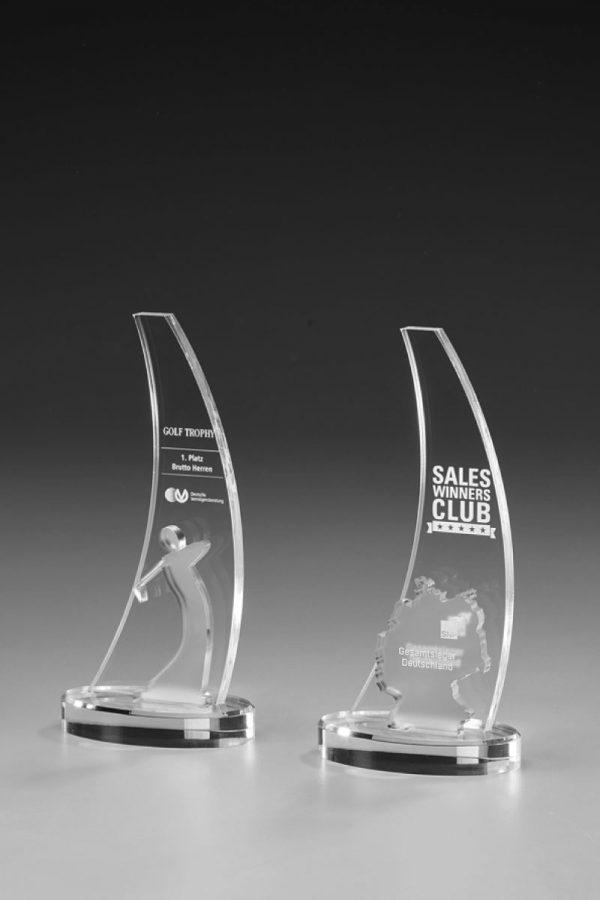 Golfpokal aus Acrylglas mit Gravur Beko Awardr