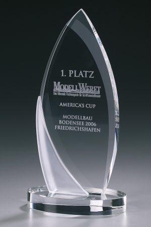 Glaspokal mit Gravur online kaufen Arrowhead Award