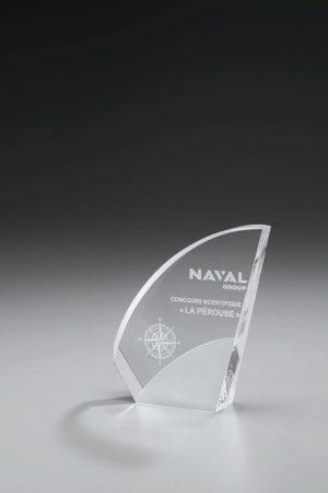 Glaspokal mit Gravur online kaufen Saburo Award