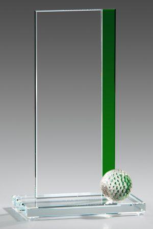 Golfpokal aus Glas mit Gravur Stea