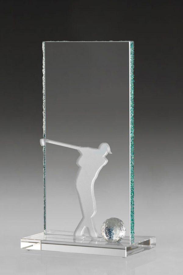 Golfpokal aus Glas mit Gravur Tamo Award