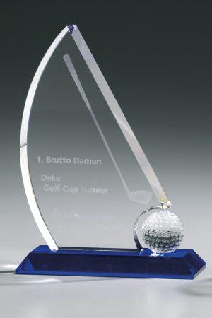 Golfpokal aus Glas mit Gravur Vexillum Award