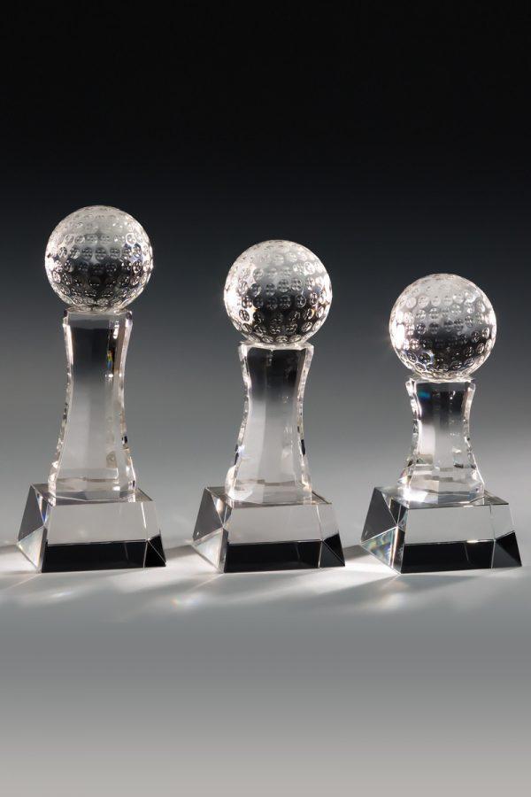 Golfpokal aus Glas mit Gravur Vitrum Award